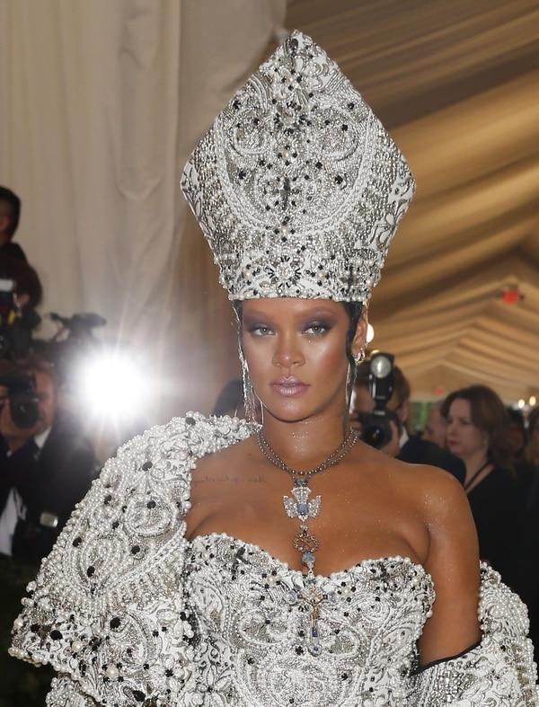 Rihanna en la tradicional Met Gala (Reuters)