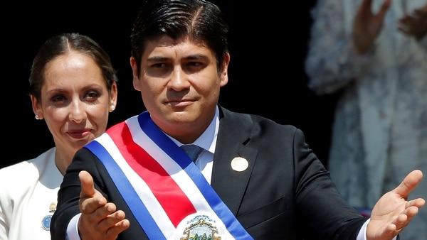 Carlos Alvarado fue investido como presidente de Costa Rica (Reuters)