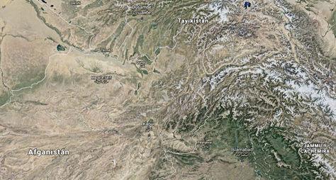 Afganistán. La región donde se registró el terremoto. Foto: Captura Google Earth