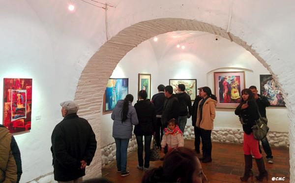 Salón de Exposición en el Tambo Quirquincho