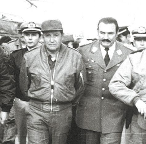 Terror. El dictador García Meza, tras el golpe de Estado de 1980.