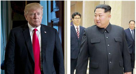El presidente de Estados Unidos, Donald Trump y el líder norcoreano, Kim Jong-un.