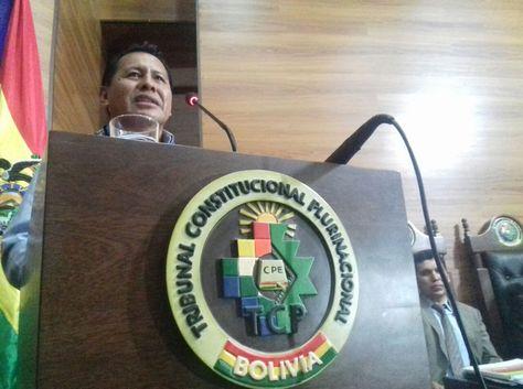 El presidente del Tribunal Constitucional Plurinacional (TCP), Petronilo Flores.