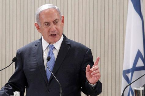 El primer ministro israelí, Benjamin Netanyahu brinda una rueda de prensa en el Palacio Presidencial en Nicosia. Foto: EFE