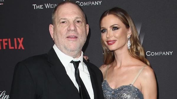 Harvey Weinstein con su ahora ex esposa Georgina Chapman (Getty)