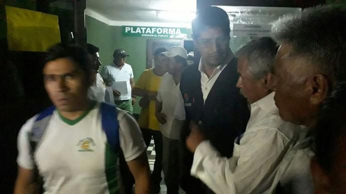 Las 47 personas fueron liberadas esta noche en Camiri. Foto: Gentileza