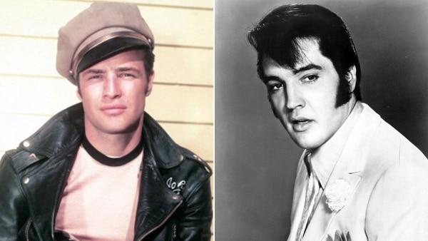 Elvis Presley y Marlon Brando, dos de los galanes más importantes de la historia de Hollywood