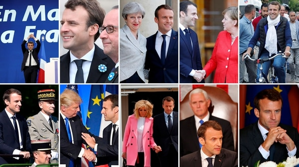 Emmanuel Macron cumple un año como presidente de Francia
