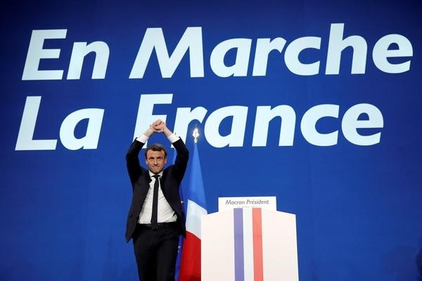 ¡En Marcha!, su partido, tiene menos de dosaños de vida y muy poca estructura (REUTERS/Benoit Tessier