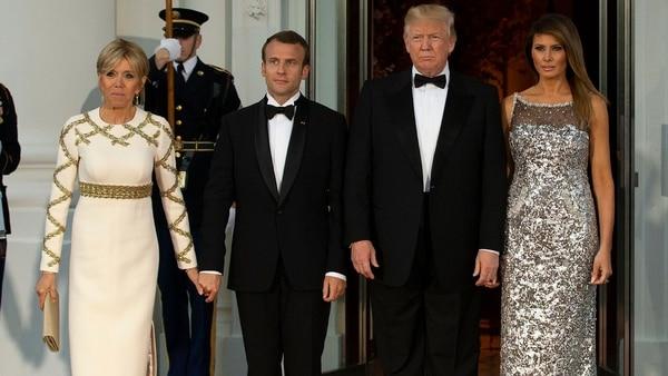 Macron desarrolló un vínculo estrecho con Donald Trump (EFE)
