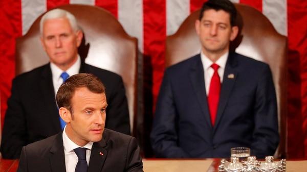 Durante el discurso que dio en el Congreso de Estados Unidos en abril