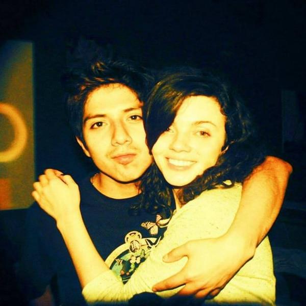 Mariela y su amigo y ex novio Chicha