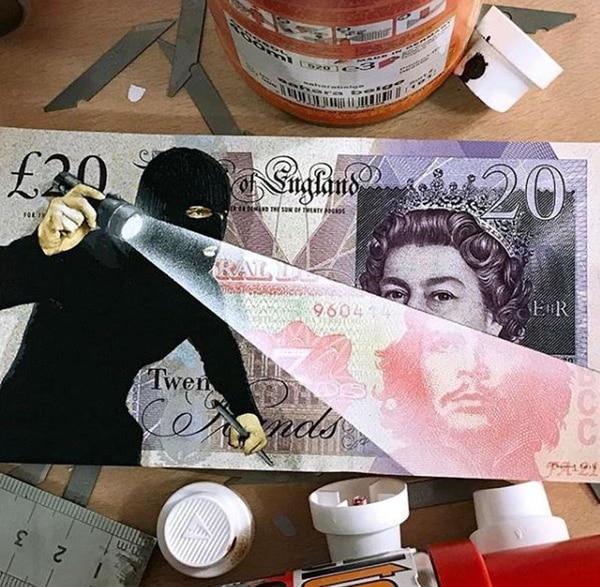 Penny, el rey del stencyl en el money art
