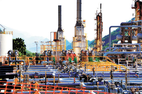 Tarija. Planta del Campo Sábalo, de donde sale el gas hacia Brasil.