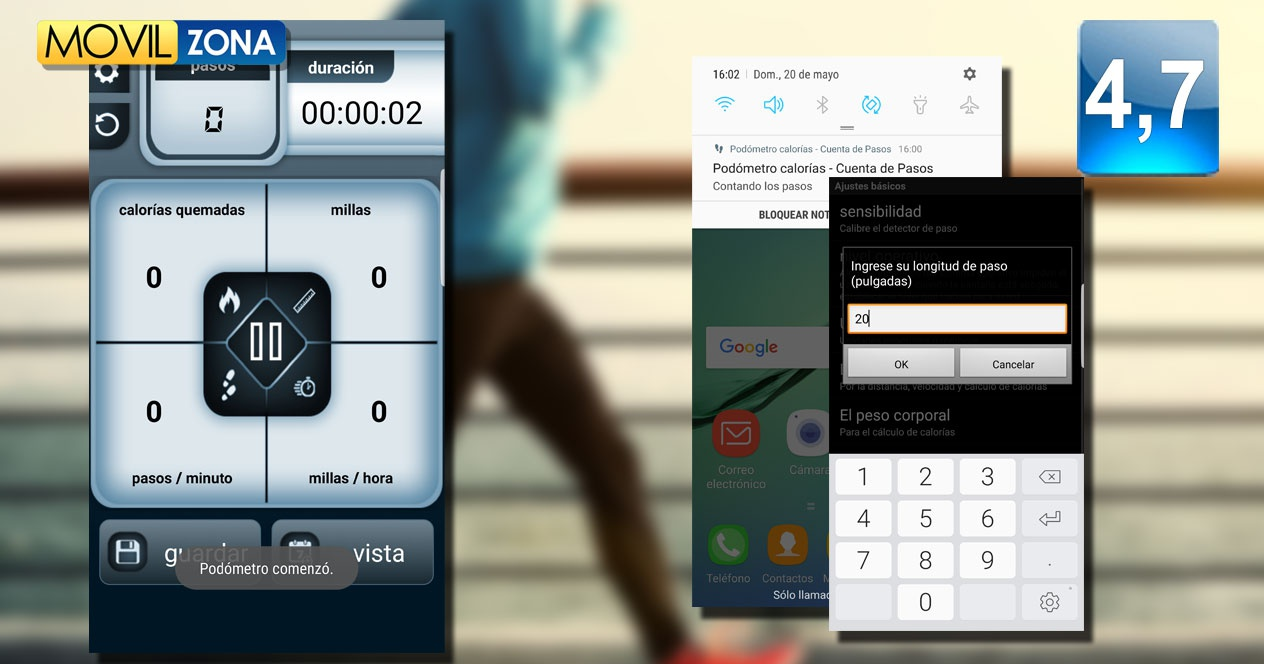 App Steps Count Calorie Pedometer