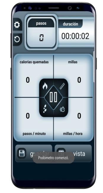 Interfaz Steps Count Calorie Pedometer