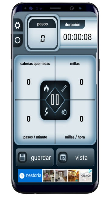Adquisición de datos en Steps Count Calorie Pedometer