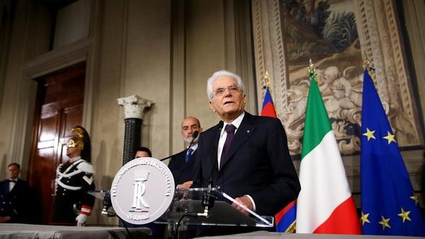 Sergio Mattarellarechazó la candidatura de Paolo Savona como ministro de Economía(REUTERS/Alessandro Bianchi)
