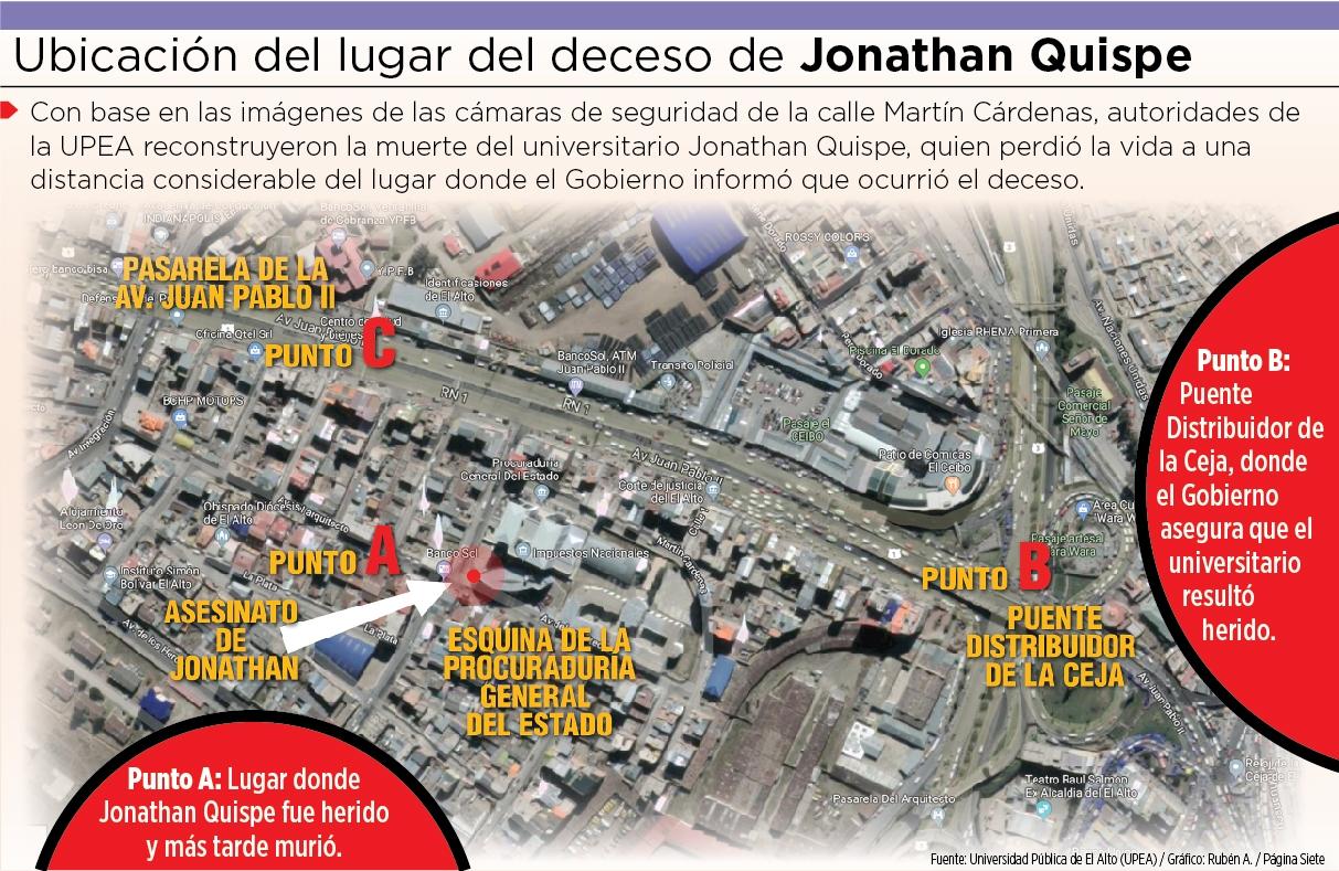 Policía ahora dice que Jonathan murió en una propiedad privada