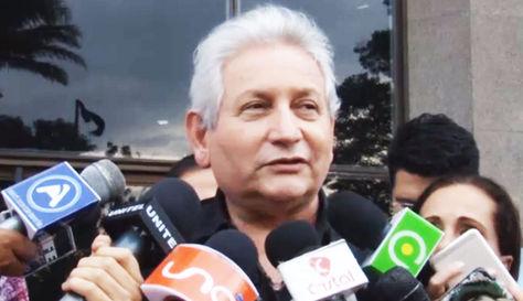 Rubén Costas durante la rueda de prensa de este martes en Santa Cruz.