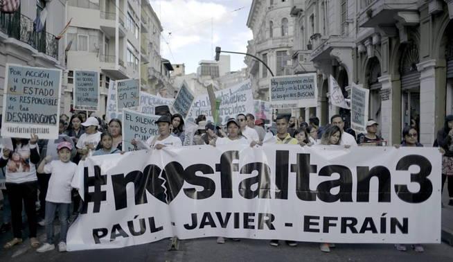 Manifestaciones en Quito para solicitar justicia para los tres asesinados. (J.Giraudat / Forbidden Stories)