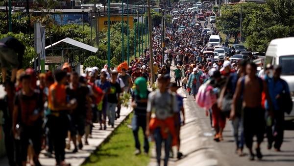 El invitado afirmó que integrantes de la caravana podrían padecer viruela (Foto: Reuters)