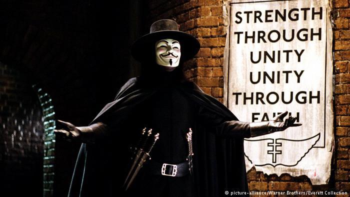 Escena de V de Vendetta.