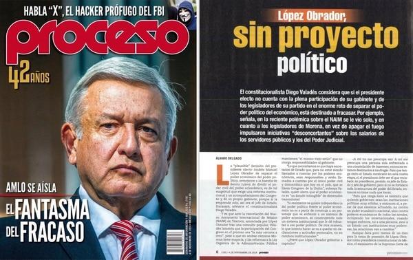 Portada de la revista que cuestionó a López Obrador.