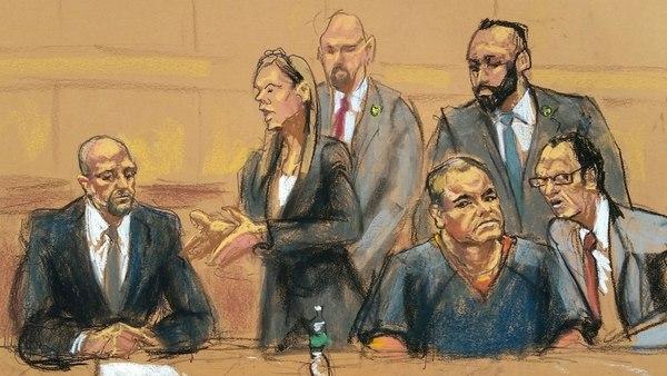 """Un colombiano considerado como posible testigo no pudo esconder su admiración por""""el Chapo""""."""