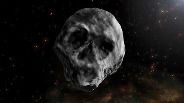 Representación gráfica del asteroide captado por la NASA en 2015
