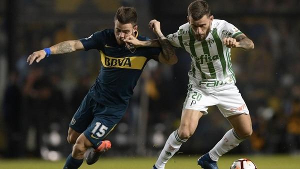 Nahitan Nandez es indiscutible en el mediocampo de Boca Juniors (AFP)