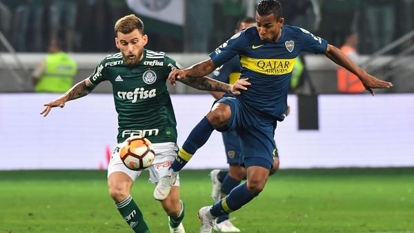 Sebastian Villahizo un gran aporte para Boca en laCopa Libertadores (AFP)