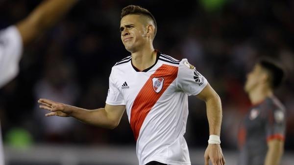 Los goles de Rafael Santos Borré fueron vitales para que River Plate llegue a la final (AP)
