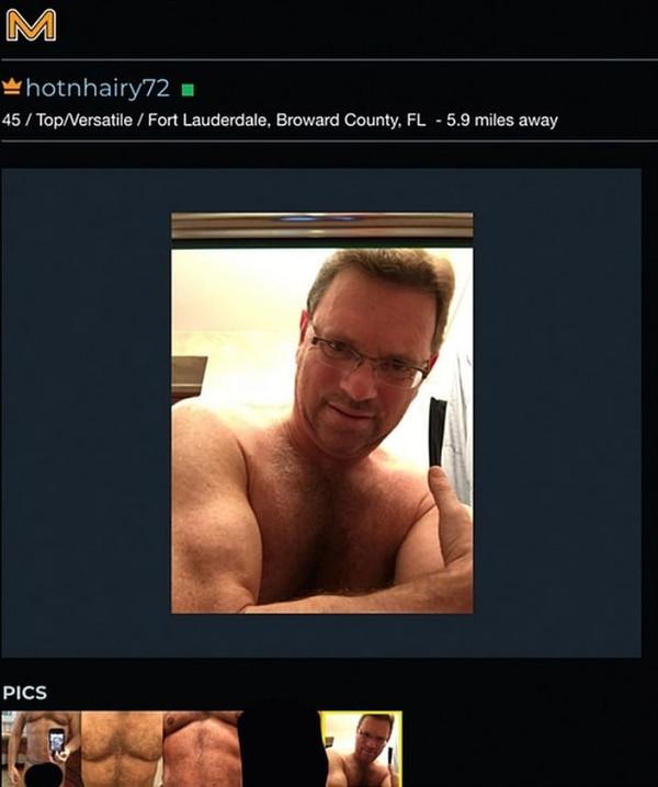 El terapeuta compartía imágenes de su cuerpo desnudo para atraer a hombres sin importar que fueran casados. (Foto: Manhunt)
