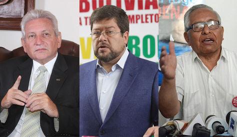 Rubén Costas, Samuel Doria Medina y Víctor Hugo Cárdenas