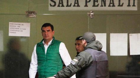 José María Leyes en sala penal.