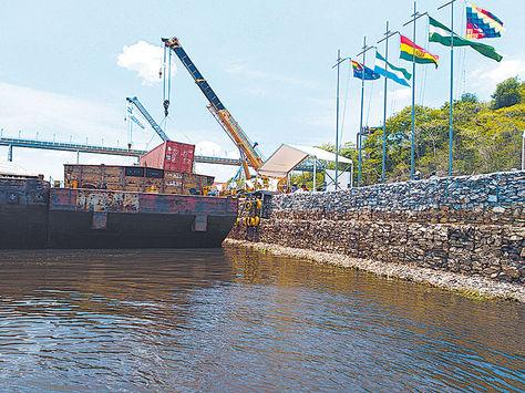 Una foto del puerto Jennefer. Crédito: Luis Mealla-La Razón