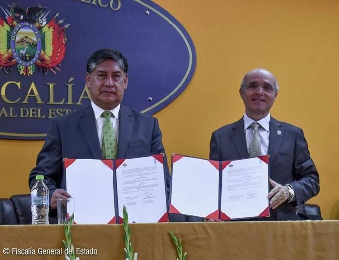 El acuerdo entre el Ministerio Público y el PNUD. FOTO: Gentileza Fiscalía General