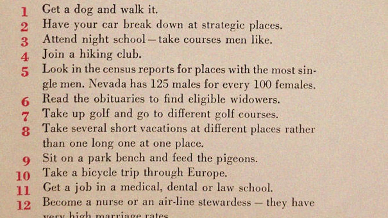 Foto: Parte de la guía, publicada en la revista McCall's en 1950.