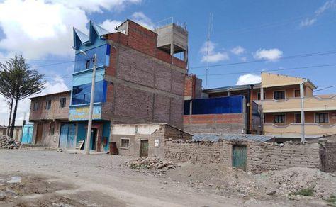 Vista de la zona donde se produjo el secuestro en Challapata.