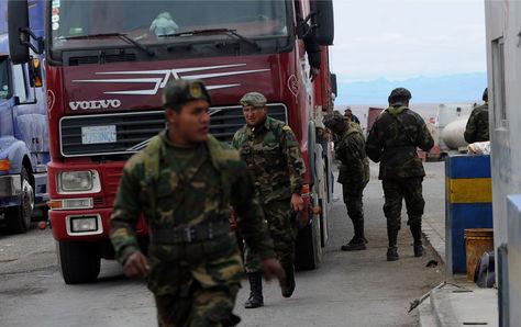 Un puesto fronterizo con Chile. Foto: Archivo-La Razón