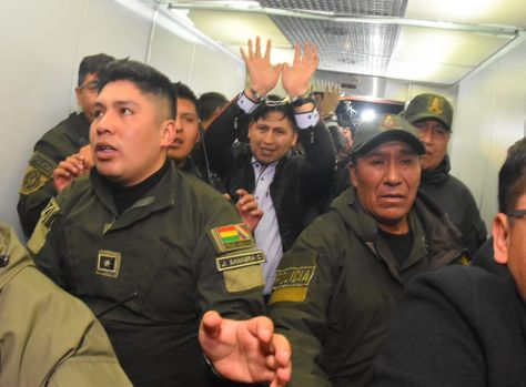 Jhiery Fernández a la salida de su audiencia el 3 de octubre pasado.