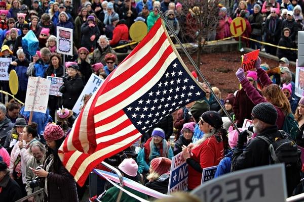La Marcha de las Mujeres, en Oregon. (David Geitgey Sierralupe/Wikicommons)