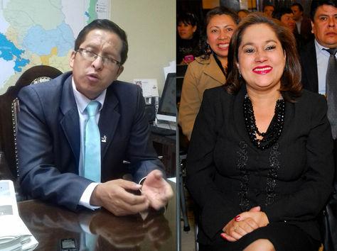 El presidente del TED-La Paz, Antonio Condori, y la presidenta del TED-Santa Cruz,Sandra Kettels, aparecieron inscritos en las listas de los partidos políticos.