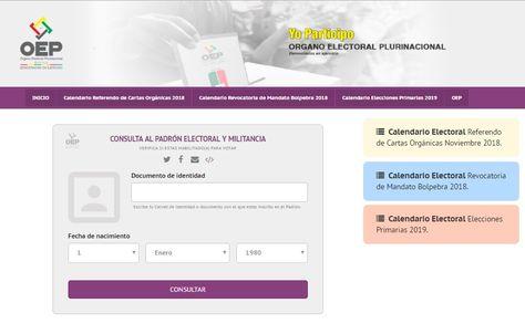 El portal Yo Participo que sirve para verificar la militancia.