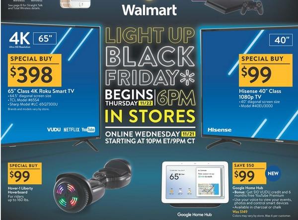 Walmart como la mayoría de las tiendas han publicado sus anuncios completos de Black Friday para que los revises en línea