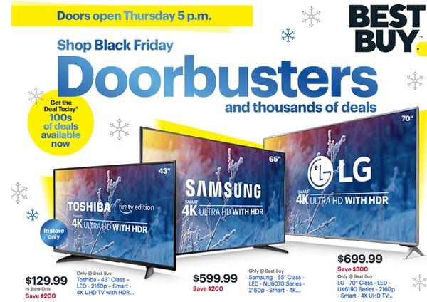 Al parecer los televisores de gran tamaño serán las mejores ofertas de todos los vendedores minoristas y por lo visto Best Buy no se queda atrás.