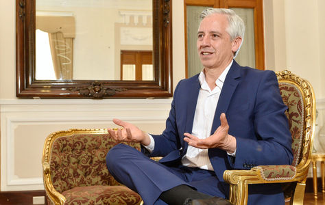 El vicepresidente Álvaro García Linera responde a las preguntas de La Razón. Foto: Pedro Laguna