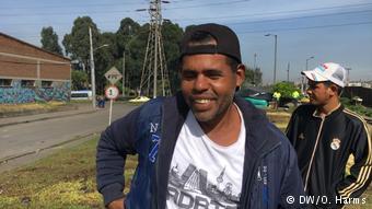 Kolumbien venezolanische Flüchtlinge in Bogotá | Walther Vázquez (DW/O. Harms)