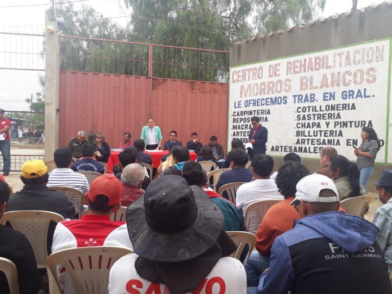 Viceministra de Justicia visita la cárcel de Morros Blancos de Tarija para socializar censo carcelario
